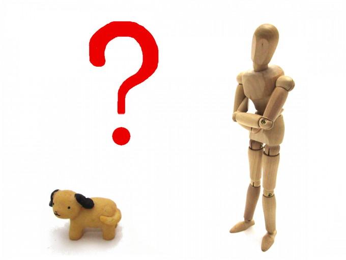 動物と人形が悩んでいるところ