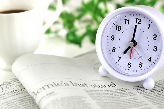 生活リズムと時計