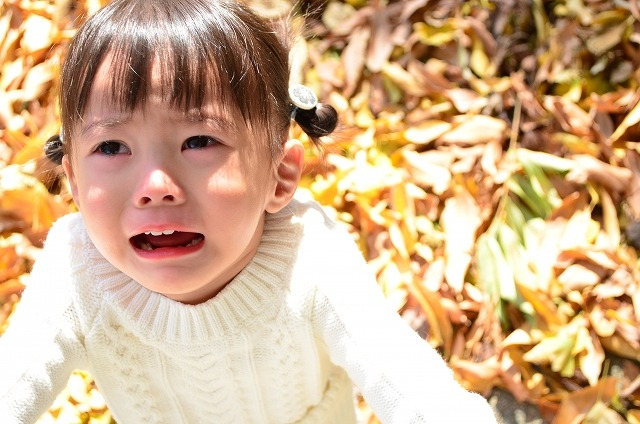 嫌々泣きの子ども