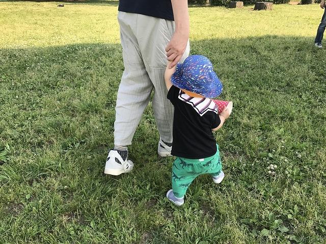子どもと散歩